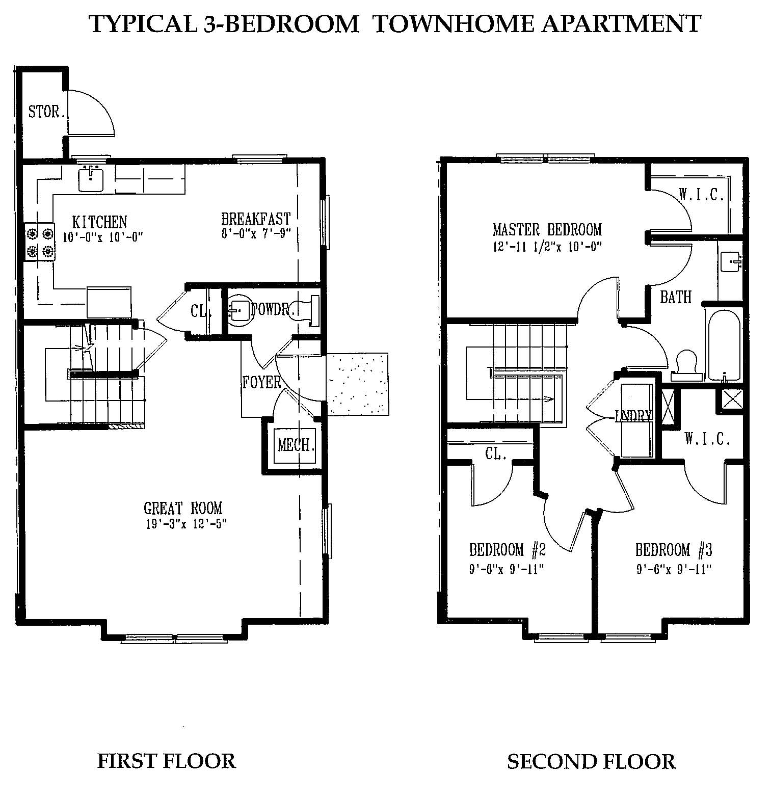 Three bedroom townhome greenlawn apartments for 3 bedroom townhomes